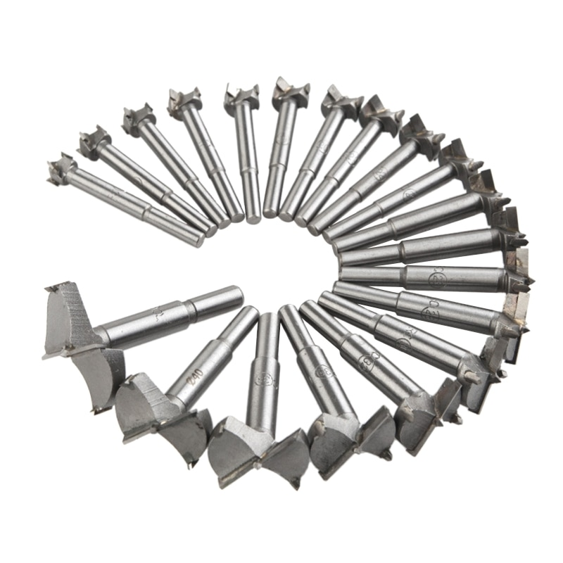 20pcs/set 14-50mm Forstner Drill Bits Woodworking Self Centering Hole Saw Cutter