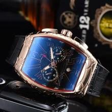 Men Watches Casual Silicone Ghost Head Watch Tonneau Quartz Watch Waterproof Chronograph Automatic D