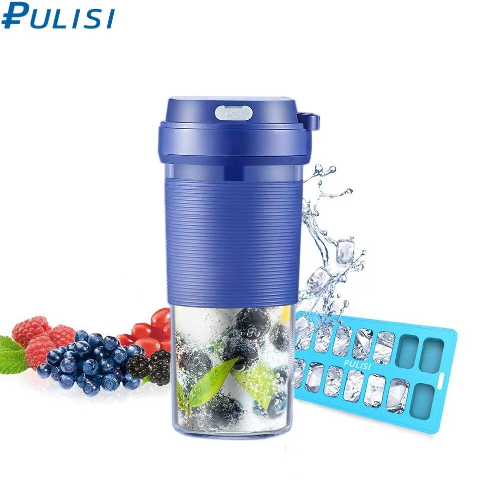 PULISI المحمولة عصارة خلاط-آلة خلاط الخلاطات كوب-صانع الغذاء المعالج عصير الكهربائية USB الفاكهة عصارة 300 مللي