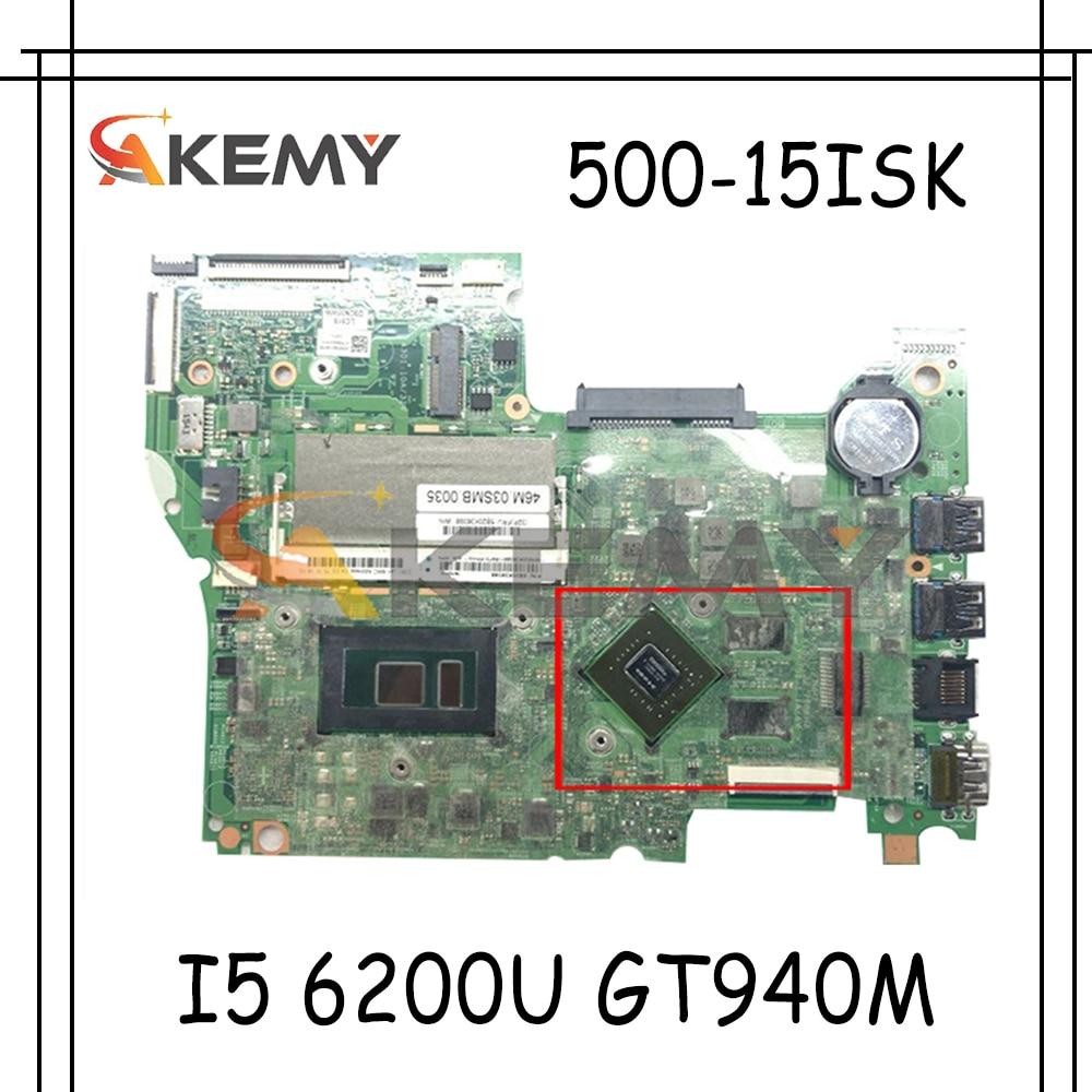 Akemy 14292-1 448.06701.0011 لينوفو اليوغا 500-15ISK FLEX3-1580 اللوحة المحمول وحدة المعالجة المركزية I5 6200U GT940M DDR3 100% اختبار العمل