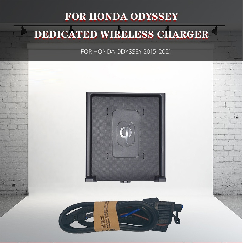 Review Car Wireless Charger For Honda Odyssey 2015-2021 Mobile Phone QI Wireless Car Charger For iPhone Fast Charge Mobile Phone Plate