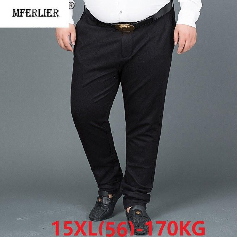 Pantalones de traje formal para hombre de talla grande 8XL, 9XL, 10XL, 12XL, 14XL, pantalones holgados de negocios para oficina, Pantalones rectos 50 52 54 60 56 58
