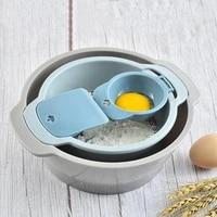 4pcsset egg yolk separator knead dough pot baking flour sieve mixing bowl pastry tools sugar shaker sieve cup shape bakeware