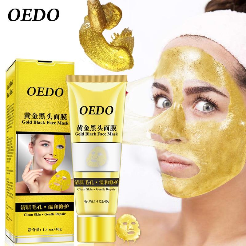 OEDO Gold Shrink Pore Improve Rough Skin Acne Shills Blackhead Remove Blackhead Mask Remover Mask Facial Moisturizing Cream 40g