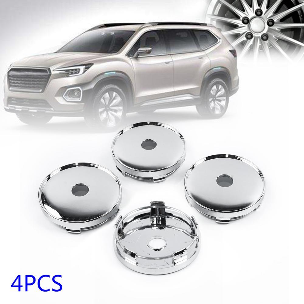 4 pces 60mm centro da roda do carro hub capa tampa decoração plástico abs prata universal lote