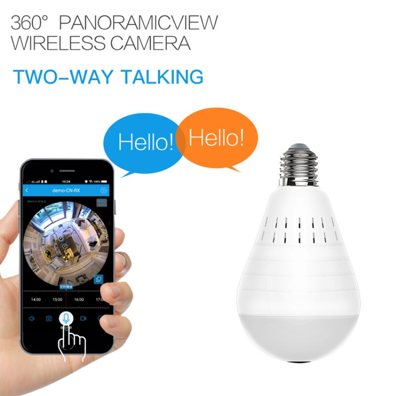 960P Wireless IP Camera Bulb Light Lamp 360 degree Fish Eye Panoramic Home Camera 1.3MP Night Vision Security P2P WiFi Camera enlarge