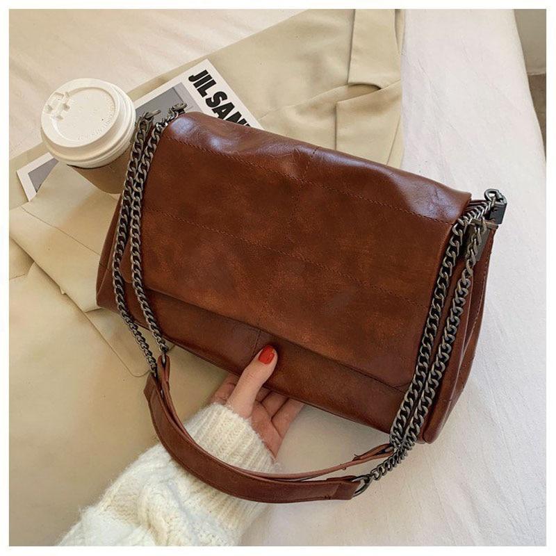 Folding thick chain Crossbody Bag For Women 2020 Fashion Sac A Main Female Shoulder Bag Female Handbags And Purses With Handle