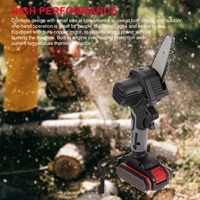 4 inch 500w 26v mini electric chain saw cordless chainsaw with rechargeable battery woodworking tool for cutting metal wood