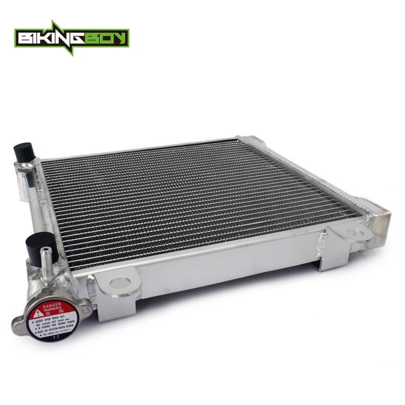 BIKINGBOY ATV radiador de motor de refrigeración para Can-am DS 650X04 05 06 07 DS650 Baja 02 03 04 refrigerador de agua 34mm núcleo de aleación pulido