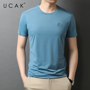 UCAK Brand Classic O-Neck Solid Color Short Sleeve T-Shirts Summer New Fashion Arrivals Streetwear Casual T Shirt Homme U5548