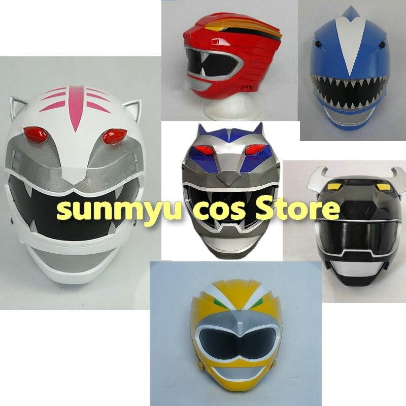 Hyakujuu Sentai gaorange قاو أحمر أبيض أزرق فضي أصفر blackتأثيري خوذة قناع مواد من الصمغ