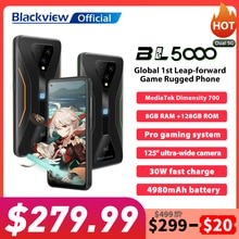 Blackview BL5000 Dual 5G Smartphone IP68 Waterproof 30W Fast Charge Rugged Gaming Phone 8GB+128GB 49