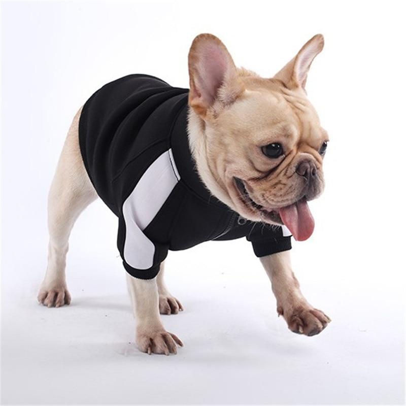 Ropa cálida de invierno para mascotas, sudaderas con capucha deportivas para perros pequeños, Chihuahua, Pug, ropa de Bulldog Francés, abrigo perro cachorro, chaqueta B867