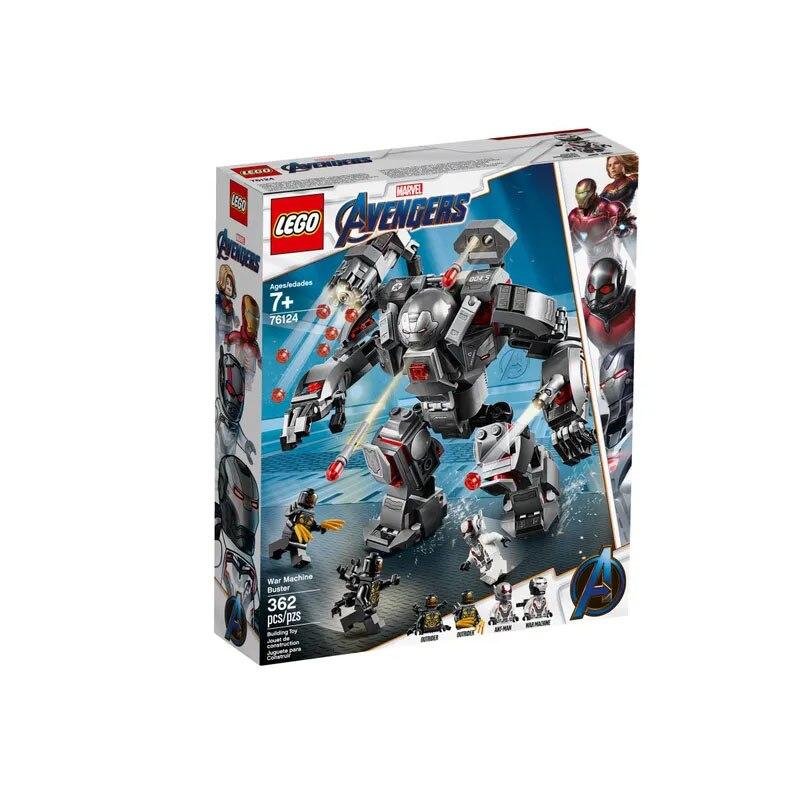 LEGO 76124 Los vengadores de Marvel serie guerra máquina Buster bloques de construcción incluye 4 minifiguras niños vacaciones regalos Juguetes