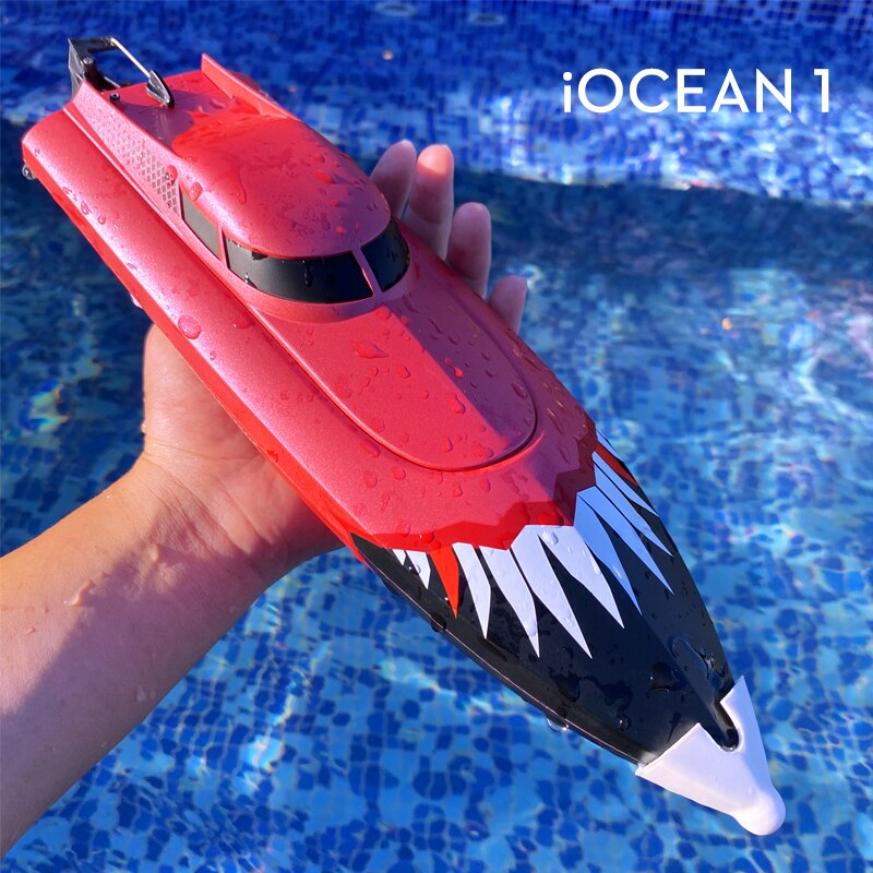 NYR RC Boat 2.4G Full Frequency High Speed Shark Boat 150 Meters Remote Control Distance Children's Toy Game Remote Control Boat enlarge