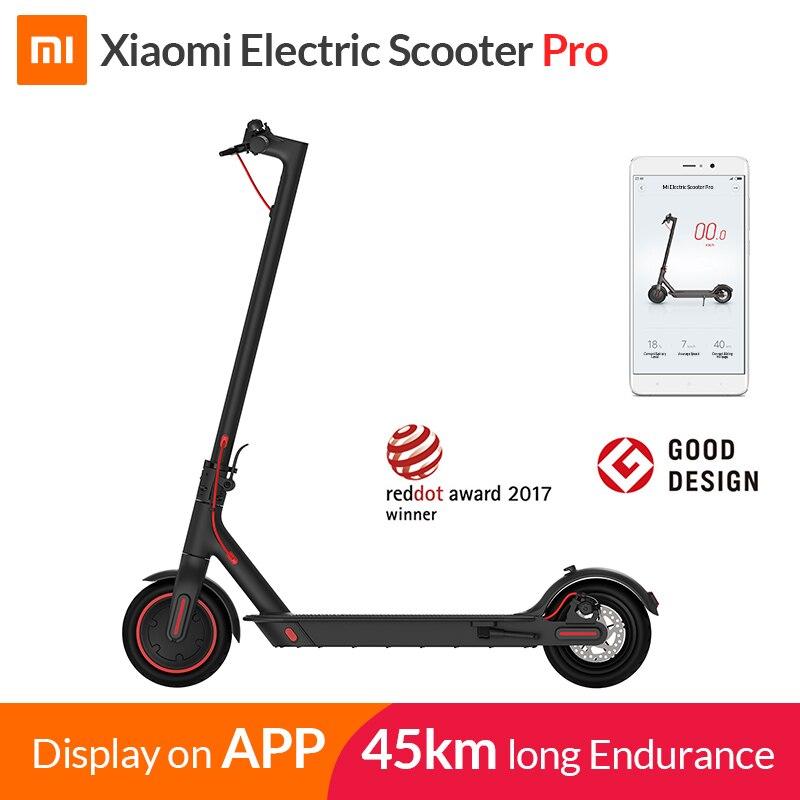 2019 Xiaomi Elektrische Roller Mijia M365 Pro Smart Roller Skateboard Mini Faltbare Hoverboard Patinete Electrico Erwachsene 45km