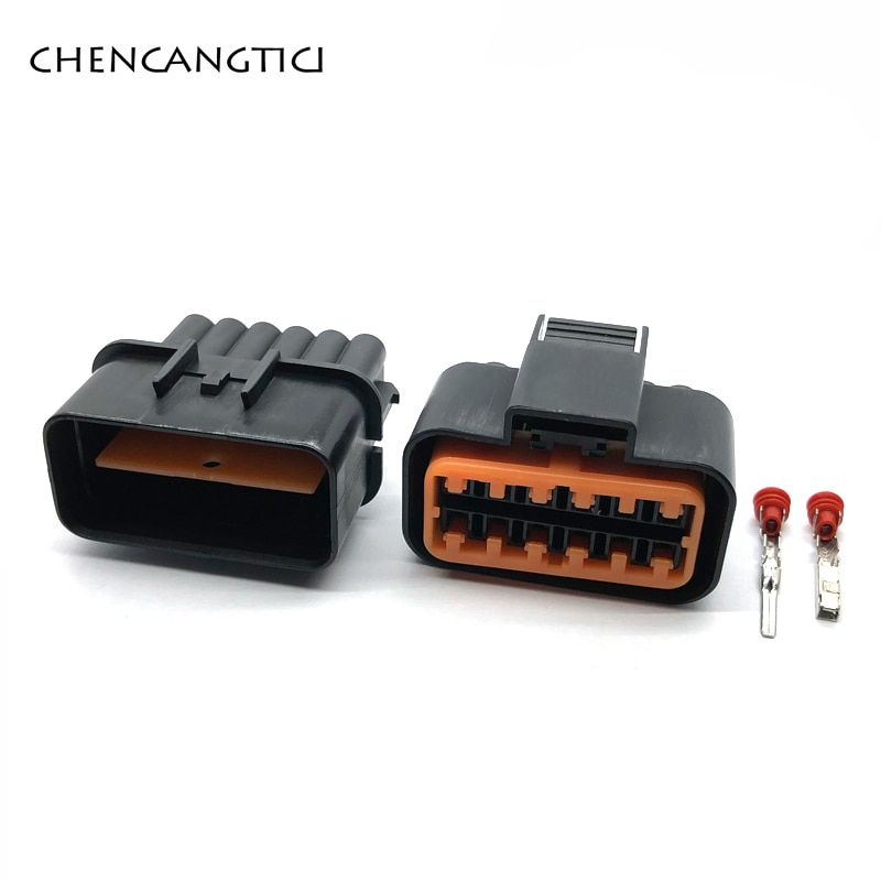 2 conjuntos de 12 pinos kum gás acelerador pedal conector auto lâmpada luz soquete para kia vw jetta golf gti mk4 PB621-12020 PB625-12027