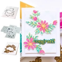 daisy wreath metal cutting dies stencil hot foil for scrapbooking decoration embossing mold diy paper cards craft cutting 2021