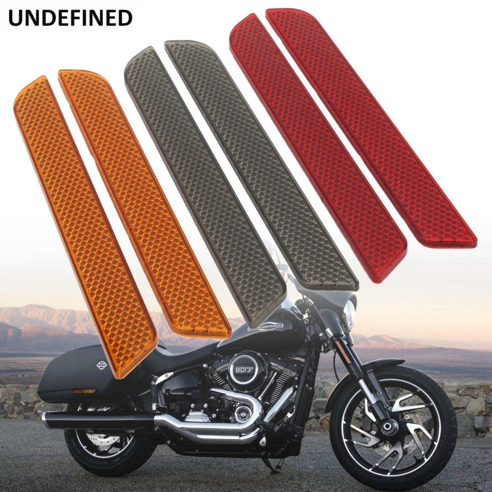 2 pçs acessórios da motocicleta abs refletores adesivos sela saco trava capas para harley touring electra tri glide cvo 2014-2017
