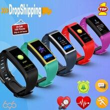 696 118 Plus Bracelet intelligent IP67 Tracker étanche fréquence cardiaque pression artérielle moniteur doxygène Bracelet Sport bande intelligente