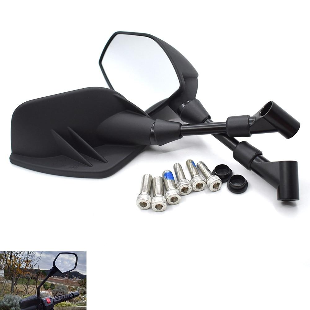 Universal 8mm 10mm espejo retrovisor de motocicleta de vidrio blanco negro para Honda CB400 CB500F CB500X CB599 CB600/F CB650F CB1000 CB1300