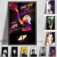singer star posters and prints fashion street art canvas wall paintings man figures pictures on wall loft home room decor