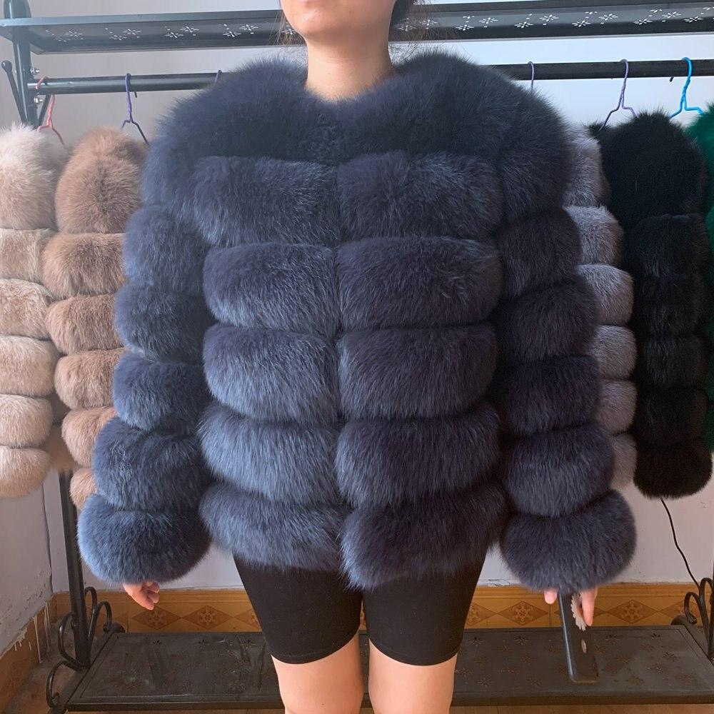 Fox Fur Coat Real Fur Jacket Women Fox Natural Real Fur Coat Short Women's Winter Jacket With Fur 2020 NEW High Quality