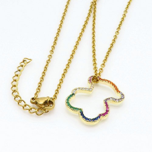 Moda feminina cz aaa + pingente colares bonito urso design popular pingentes acessórios presente