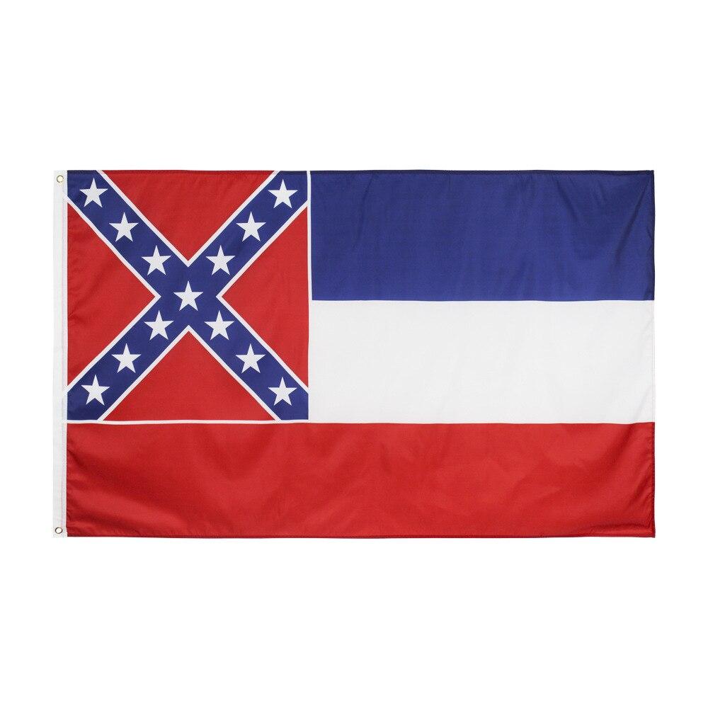 90x150 cm eua o estado dos eua mississippi bandeira personalizar bandeira por atacado entrega rápida