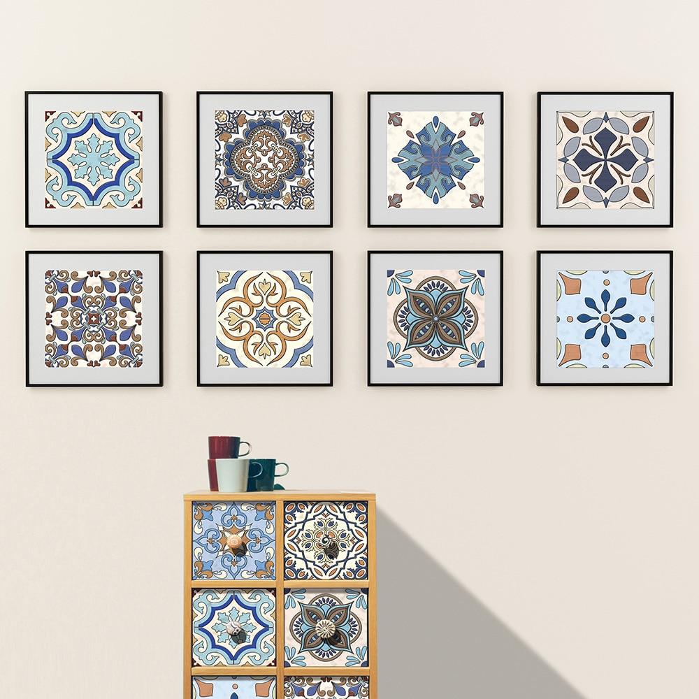 Estilo europeu duro telha adesivos decorativos adesivos de parede à prova dwaterproof água telha adesivos 3d grosso resistente ao desgaste adesivos decorativos