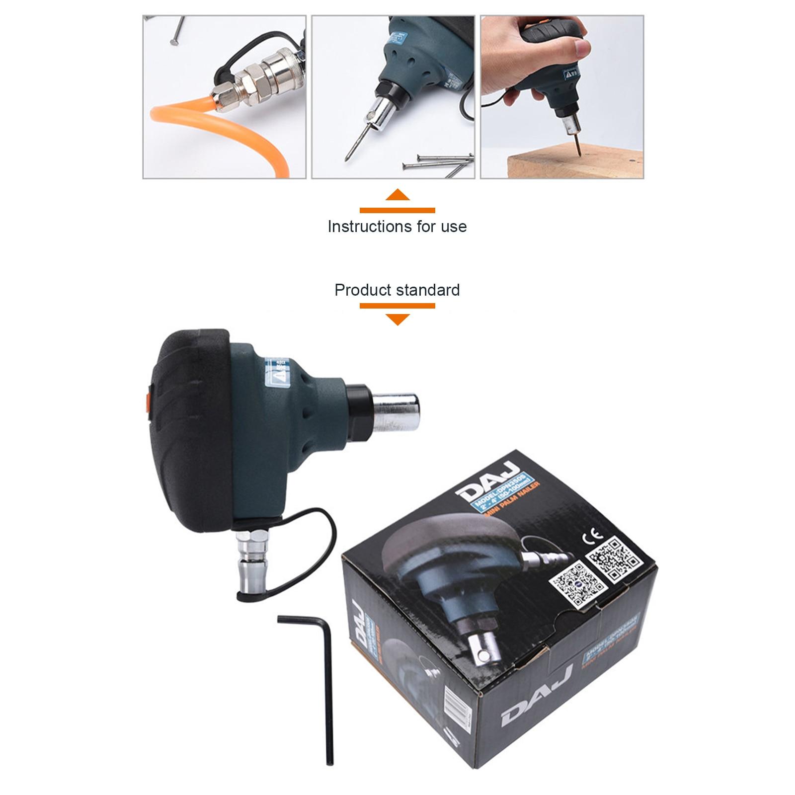 Pneumatic Hammer Nailing Machine Mini Air Nailer Steel Nail Palm Hammer Pneumatic Palm Hammer Woodworking Tool  - buy with discount