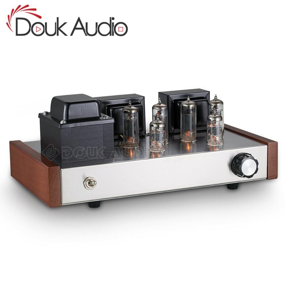 AMPLIFICADOR DE POTENCIA Douk audio HiFi Clase AB 6P1, amplificador de Audio estéreo de 12W + 12W con válvula de tubo