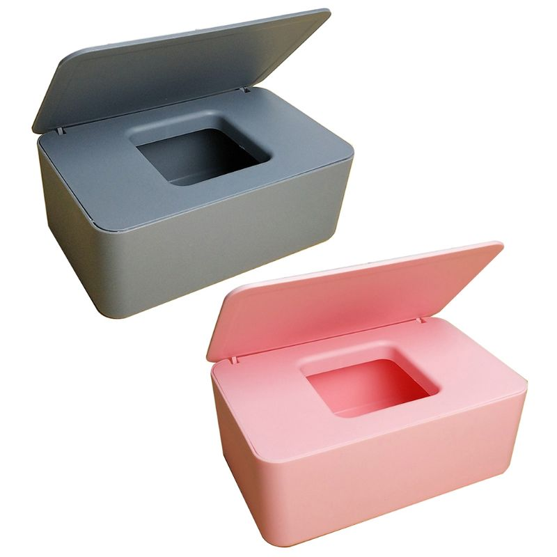 Exquisite And Simple Wet Wipes Dispenser Holder Case with Lid for Home Office Store Dustproof Tissue Storage Box