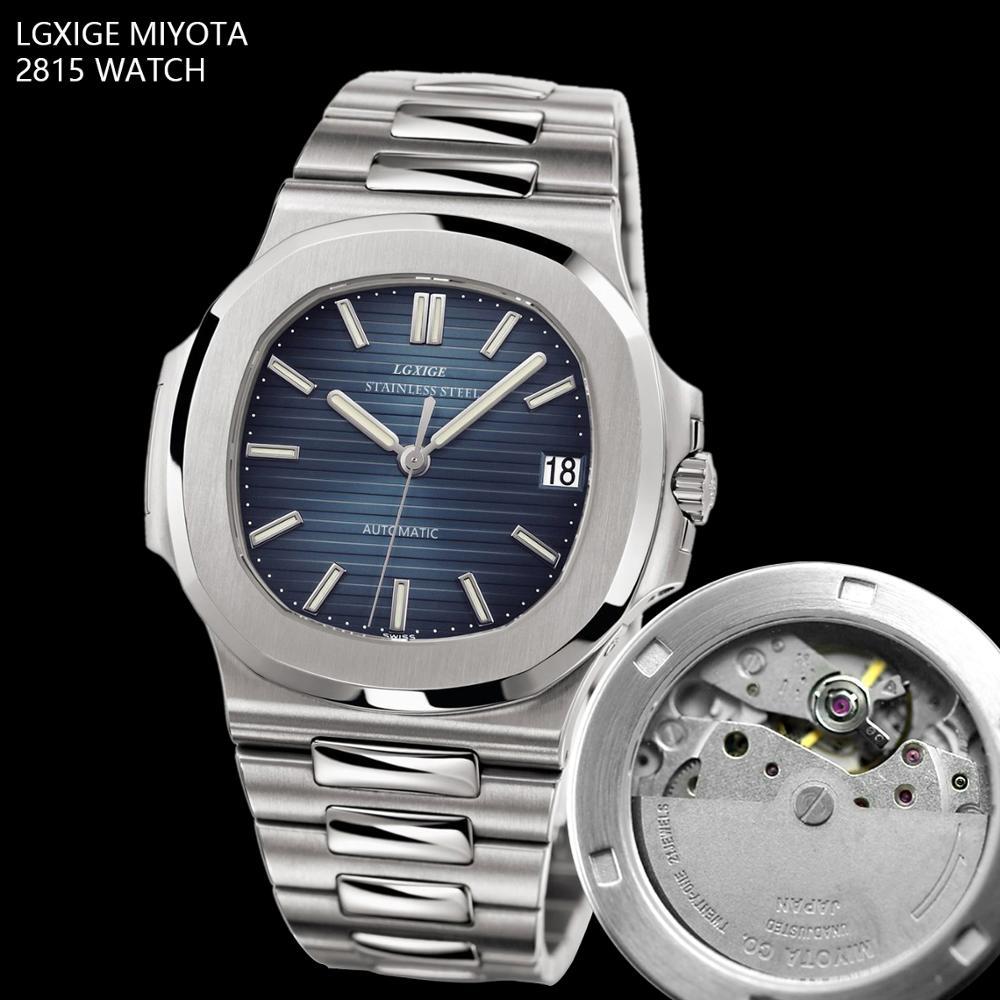 LGXIG Marke Männer Uhren Automatische Mechanische Uhr JAPAN 8215 Sport Uhr Casual Business Retro Armbanduhr Uhren Hombre 2019