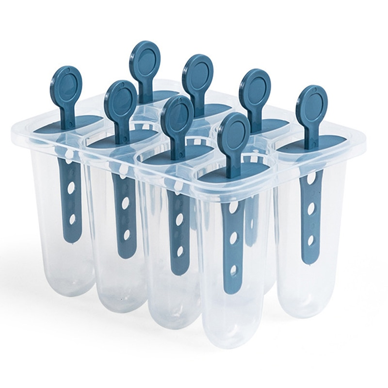 Bandeja de hielo reutilizable DIY, soporte de molde congelado, utensilio de cocina útil para hacer helados, molde de paleta, bandeja, bandeja con palos