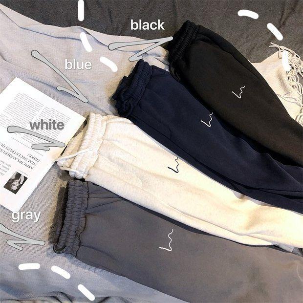 Шаровары женские повседневные Свободные корейские утепленные спортивные брюки женские осенне-зимние модные новые стильные брюки для женщ...
