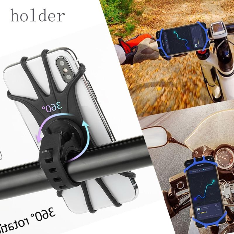Phone Holder For Phone Universal Mobile Cell Phone Holder Bike Handlebar Clip Stand GPS Mount Bracket For Xiaomi Moblie Phone