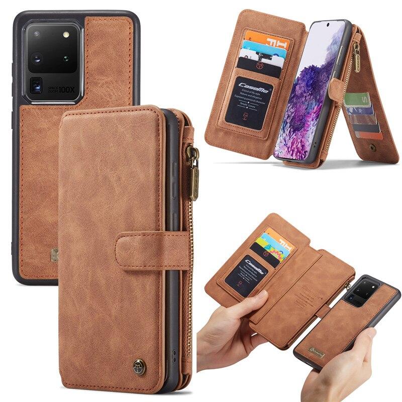 Чехол из натуральной кожи для Samsung S20 Ultra S10 S9 S8 Plus Note 10, чехол-кошелек для iPhone 11 Pro XS Max XR X 6 6S 7 8 Plus, чехлы