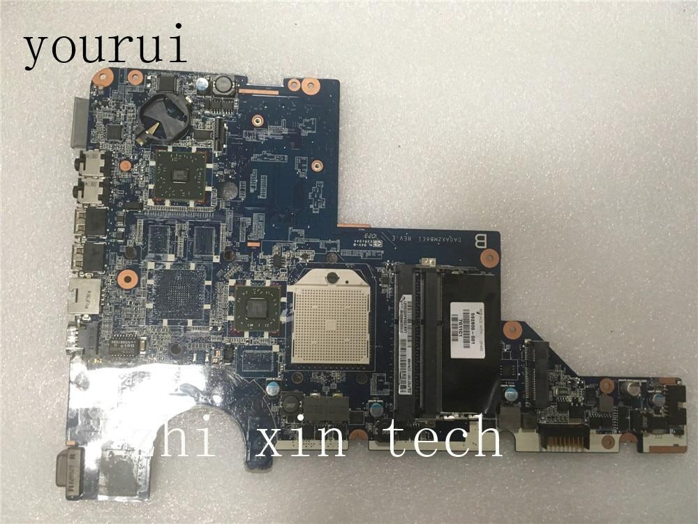 Yourui للوحة الأم للحاسوب المحمول HP CQ42 G42 CQ62 G62 592809-001 DA0AX2MB6E1 DDR3 تم اختبارها بالكامل
