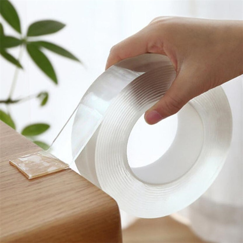 1M/2M/5M Nano  Tape Double Sided Tape Transparent No Trace Reusable Waterproof Adhesive Tape Cleanable Home gekkotape