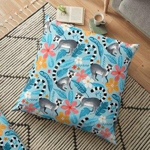 Декоративная подушка Lemur Land on Blue с принтом, чехол для дивана, наволочка, весенние украшения для домашнего декора, наволочка для подушки
