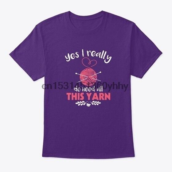 Sim, eu realmente preciso de tudo isso fio padrão unisex camiseta