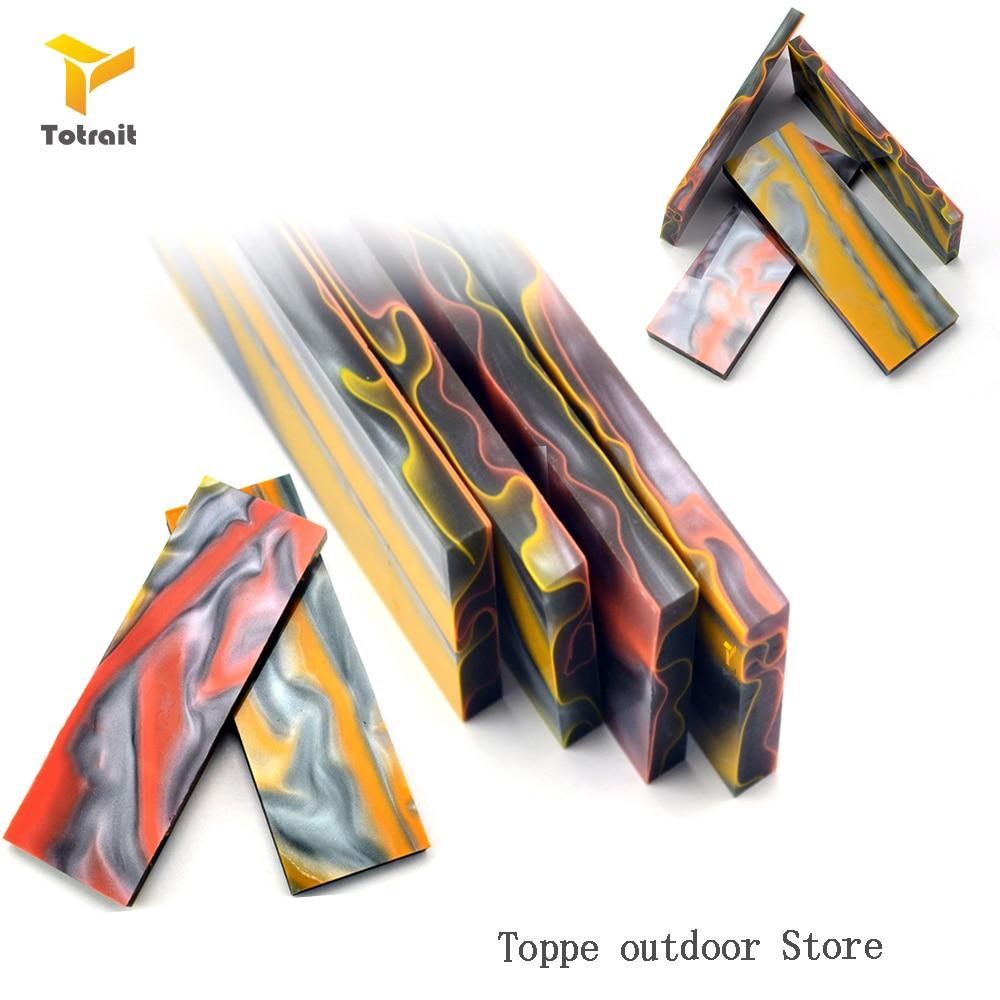 TOtrait Ножи Ручка патч PMMA Акриловый Ножи делая ручка Материал многоцветный Ножи DIY SY Tools Ножи патч зажим