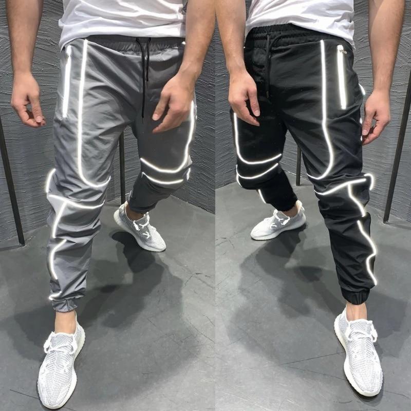 Брюки-Карандаш мужские в стиле хип-хоп, уличная одежда, брюки для бега, молодежная повседневная спортивная одежда, 2020