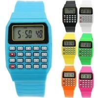 fad children silicone date multi purpose kids electronic calculator wrist watch