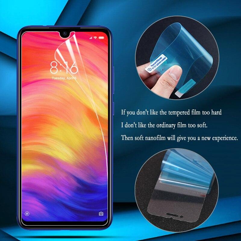 Nano explosión-película a prueba para Xiaomi Redmi Nota 7 65 Pro pantalla Protector para Xiaomi Redmi Note 7A 7 6A 6 5A 5 4 Mi 9 Lite Pro 5G