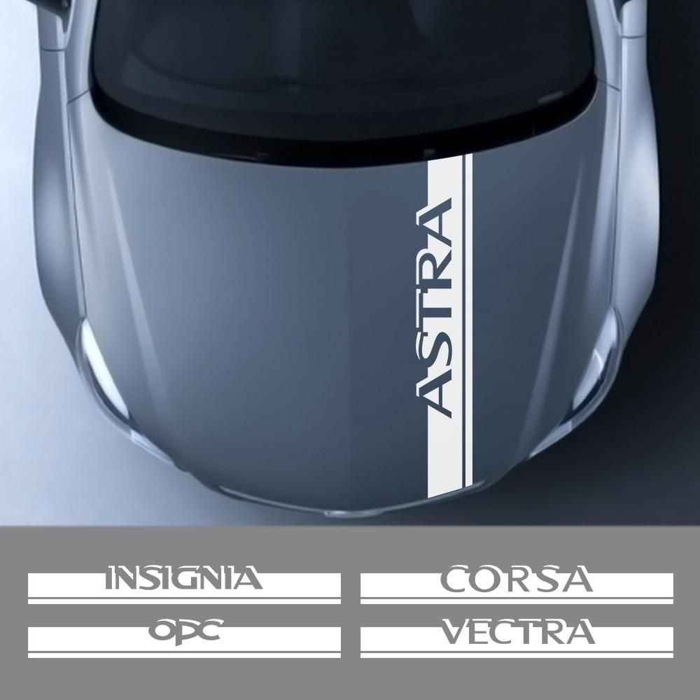AliExpress - Auto Engine Bonnet Trim Decal For Opel OPC Astra J H G K Insignia Corsa D B E Mokka Vectra B Car Hood Cover Stickers Accessories