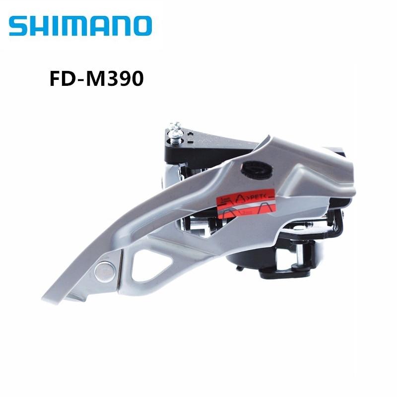 Desviador delantero Shimano Acera FD-M390 M390, Triple oscilante superior para 9 velocidades