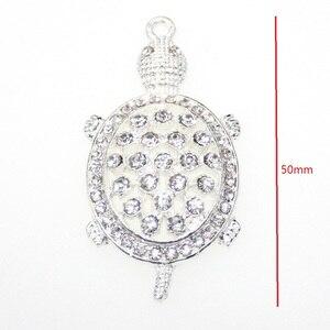 10pcs/lot  Fashion Jewelry Rhinestone Animal Turtle Shape Pendant For Necklace