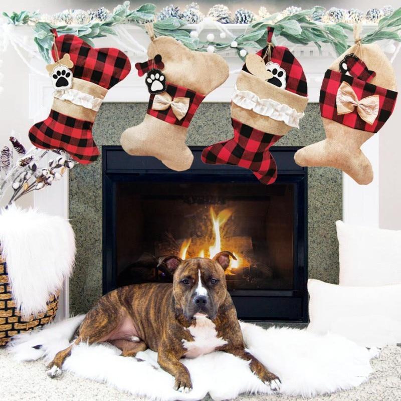 Christmas Socking Decorations Xmas Socks Gift Bags Holiday Supplies Classic Socks Decorations for Xm